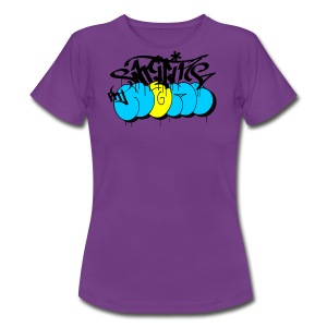 writing my name - graffiti bombing tag - Frauen T-Shirt