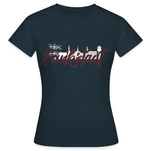 Funkstadt Nauen white / red - Frauen T-Shirt