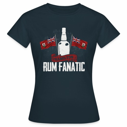 T-shirt Rum Fanatic - Hamilton, Bermuda - Koszulka damska