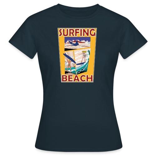 Surfing beach comic Urlaub t-shirt - Frauen T-Shirt