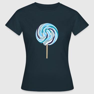 Blauer Lolli mit Stiel - Frauen T-Shirt