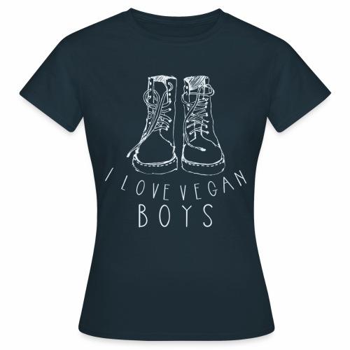 I love Vegan Boys Shirt Veganer T-Shirt - Frauen T-Shirt