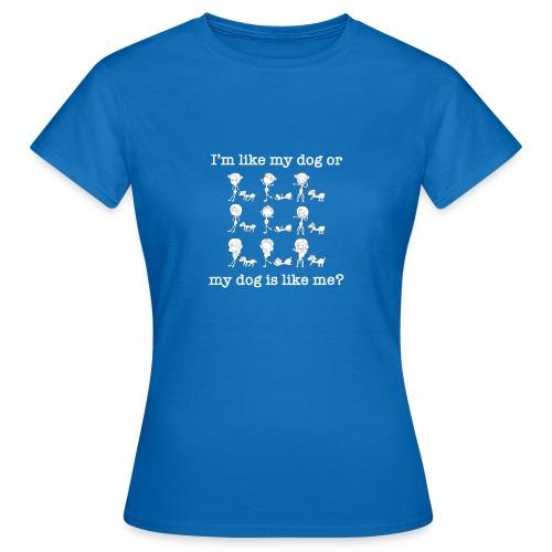 Cane con ragazza divertente - Maglietta da donna