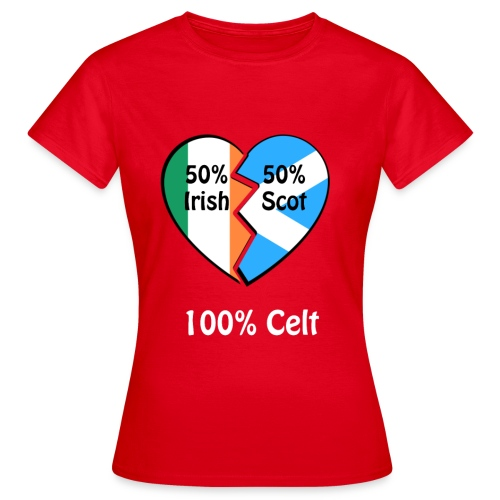 half-irish-half-scot-full - Women's T-Shirt