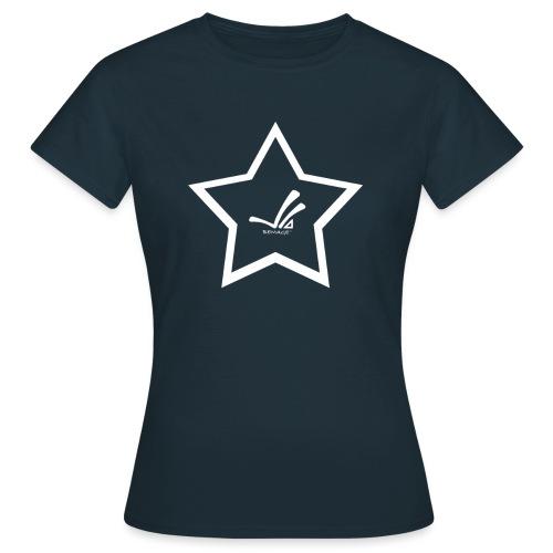 Bemage Logo Star weiß png - Frauen T-Shirt