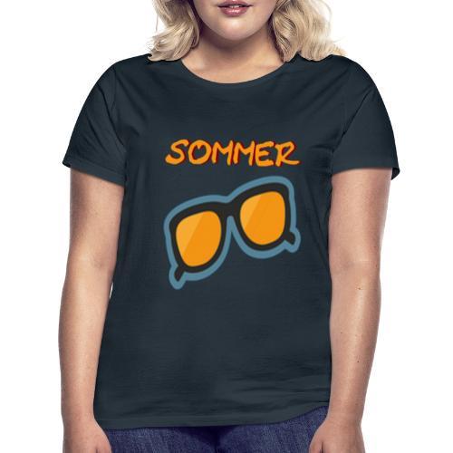 Sommer Sonnenbrille - Frauen T-Shirt
