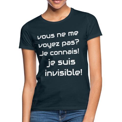 Invisibile #invisibile - Maglietta da donna