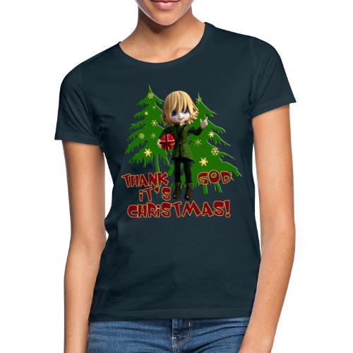 Weihnachtself Thank God it´s Christmas! - Frauen T-Shirt
