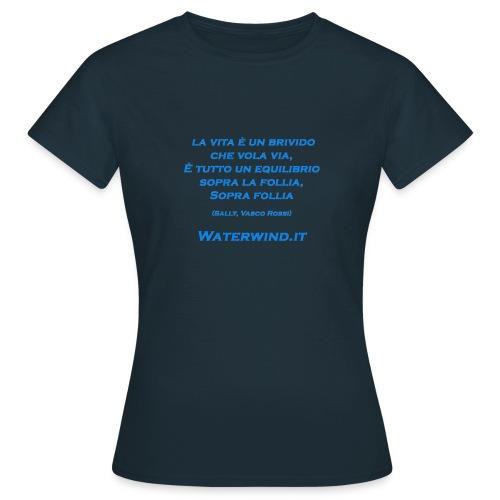 Sally Vasco rossi azzurro - Women's T-Shirt