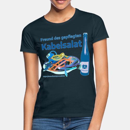 Freund des gepflegten Kabelsalat - Comic - Frauen T-Shirt