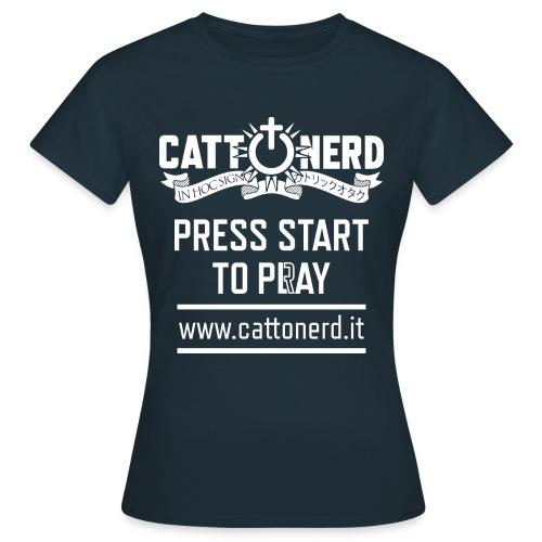 CattOnerD Press Start - Maglietta da donna