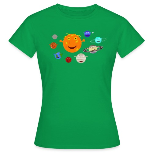 the solar system 1 png - Women's T-Shirt