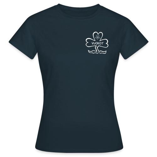 vuokkologo valkoinen - Naisten t-paita