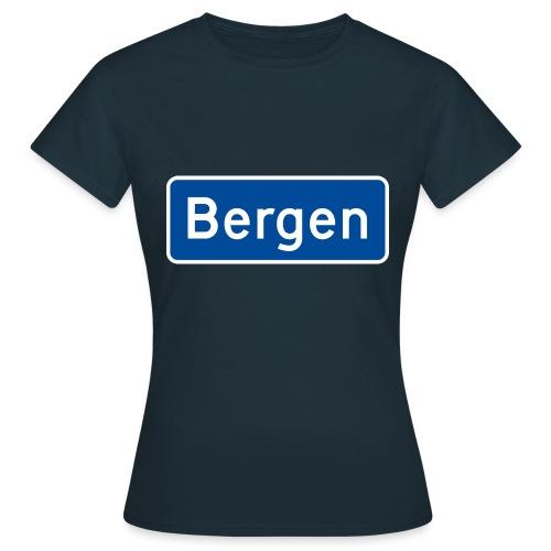 bergen - T-skjorte for kvinner