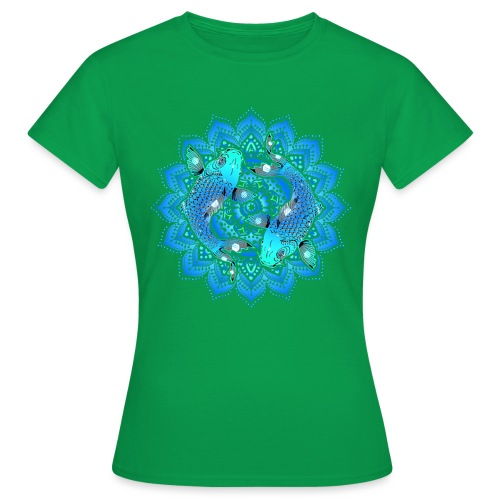Asian Pond Carp - Koi Fish Mandala 1 - Frauen T-Shirt