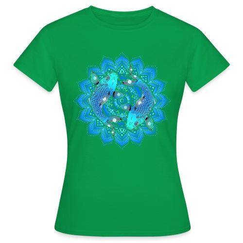 Asian Pond Carp - Koi Fish Mandala 1 - Frauen T-Shirt