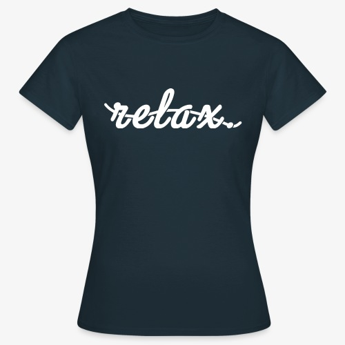 Relax Logo White - Women's T-Shirt