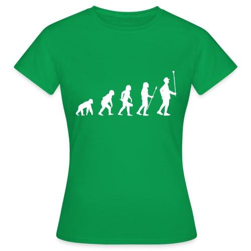 Evolution Stabführer weiß - Frauen T-Shirt