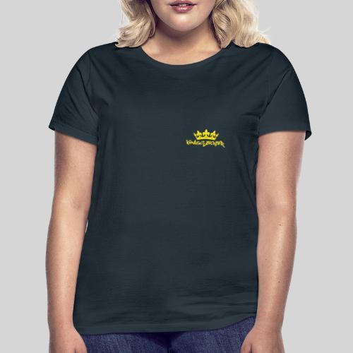 Königstochter m. Krone über der stylischen Schrift - Frauen T-Shirt