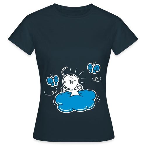 baby op wolkje - Vrouwen T-shirt