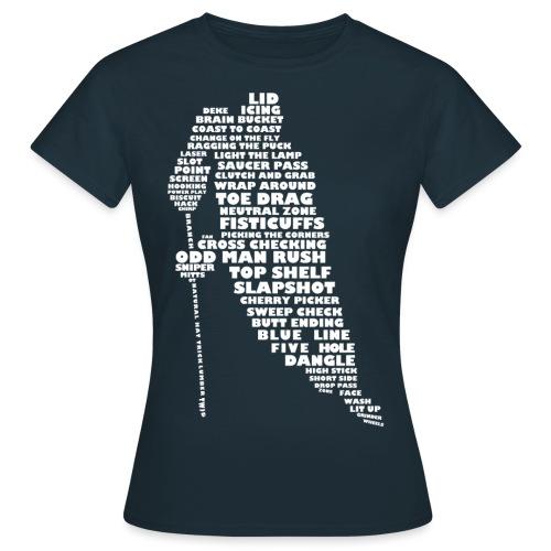 Language of Hockey (White) - Women's T-Shirt