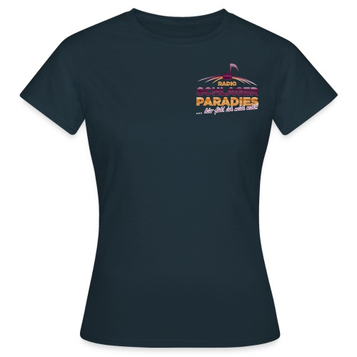 Logo SchlagerParadies glossy Slogan png - Frauen T-Shirt