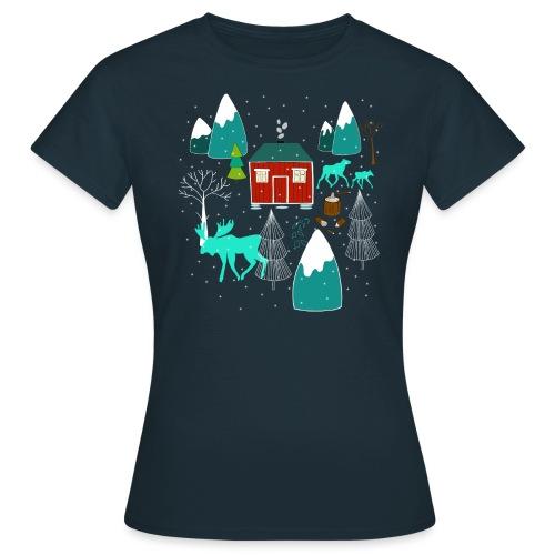 Weihnachten Elch I Geschenk Winterstimmung - Frauen T-Shirt