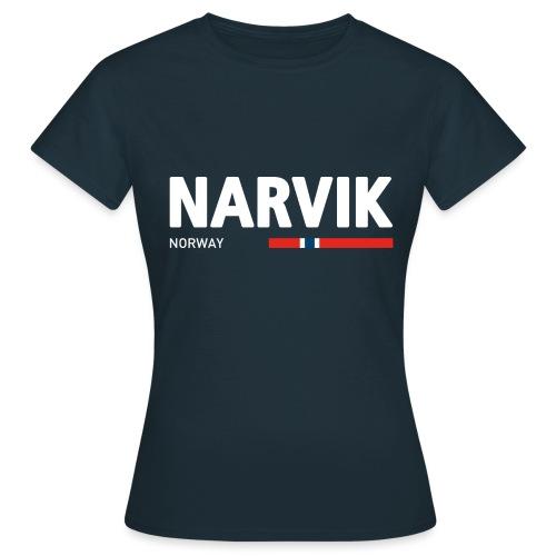 Narvik, Norway (fra Det norske plagg) - T-skjorte for kvinner