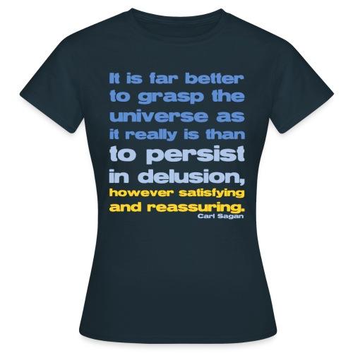 Carl Sagan Grasp the Universe - Women's T-Shirt