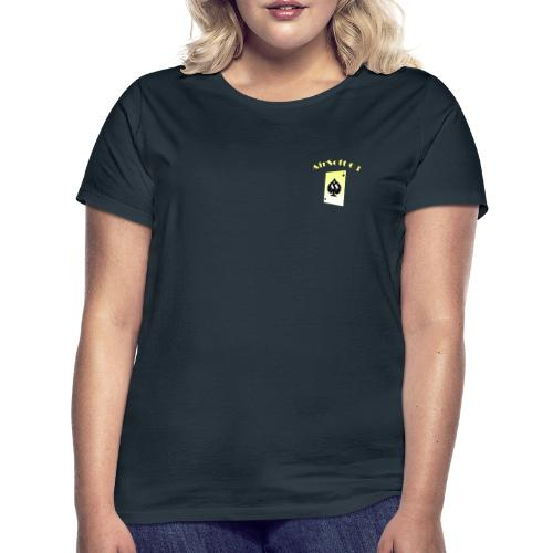 AS03 logo jaune - T-shirt Femme