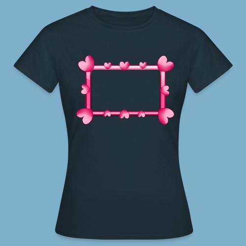 Herz Rahmen - Frauen T-Shirt