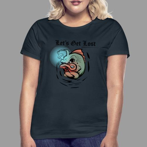 Light fish Black 4000x4000 - Maglietta da donna
