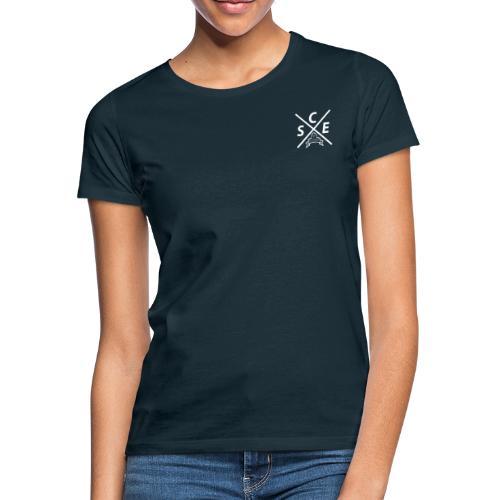 SCE Kreuz -small Backprint - Frauen T-Shirt