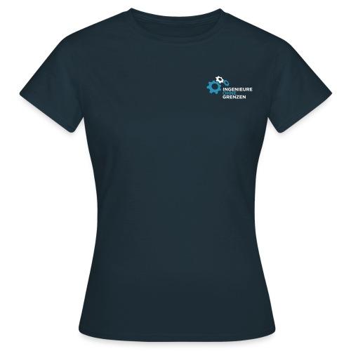 logo v1 aufdunklemblau cmyk - Frauen T-Shirt