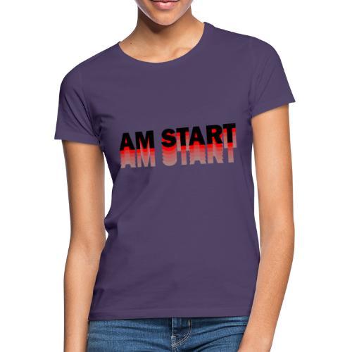 am Start - rot schwarz faded - Frauen T-Shirt