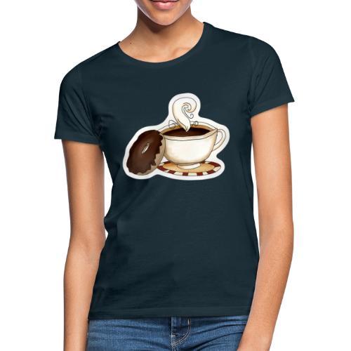 Kaffee und Donut - Frauen T-Shirt