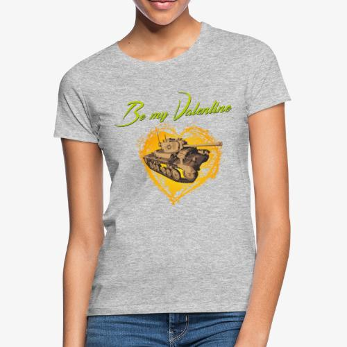 Glowing Valentine Heart - Frauen T-Shirt