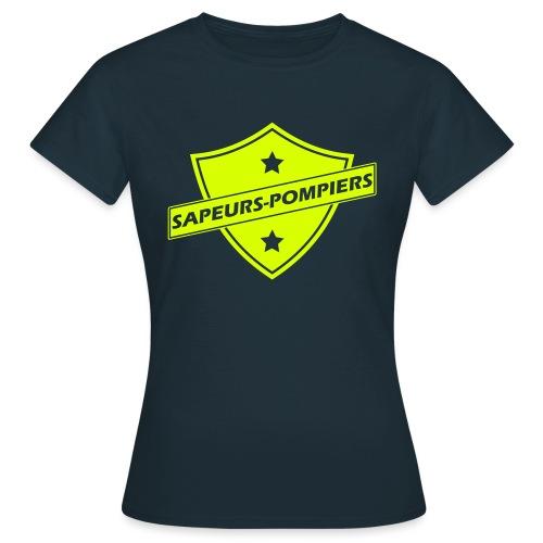 blason sapeurs-pompiers - T-shirt Femme