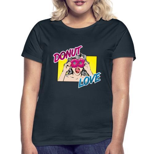 Popart - Donut Love - Zunge - Süßigkeit - Frauen T-Shirt