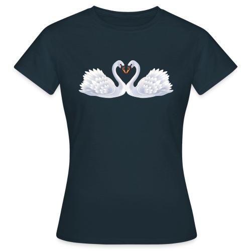 Swan hearts - T-shirt dam