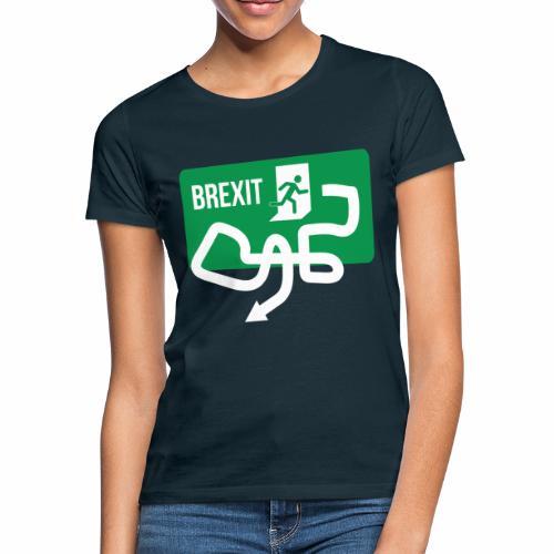 Brexit Exit Sign - Women's T-Shirt