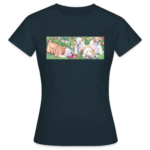 english bulldog pups - Dame-T-shirt