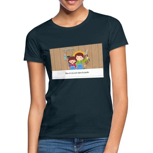 Max et Léa sont dans le Jardin - T-shirt Femme