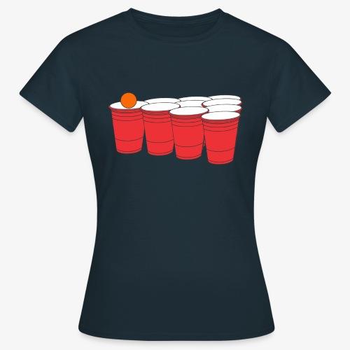 Beerpong Party Motiv T-Shirt - Frauen T-Shirt