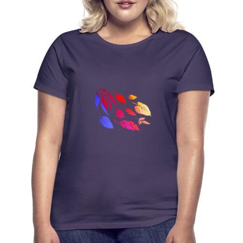 Natur Blätter Regenbogen - Frauen T-Shirt