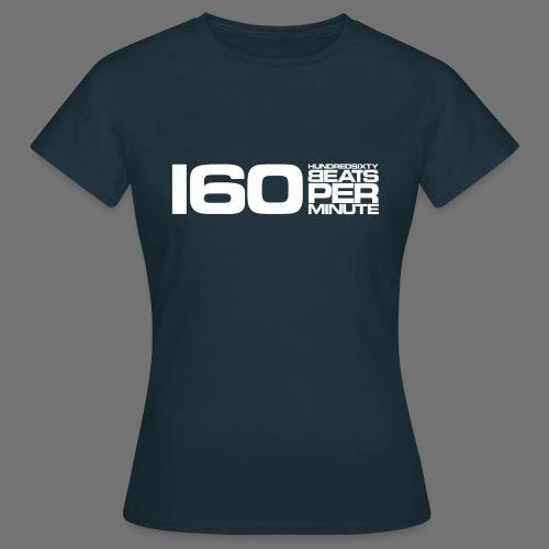 160 BPM (valkoinen pitkä) - Naisten t-paita