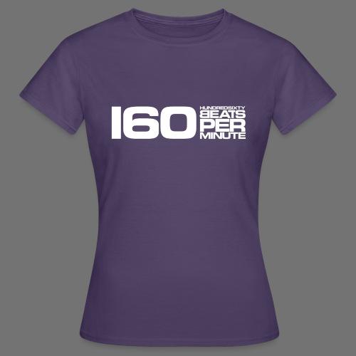 160 BPM (białe długie) - Koszulka damska