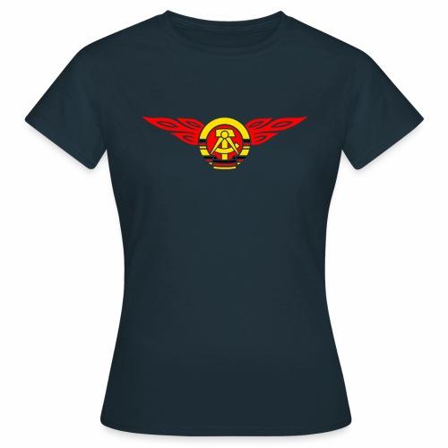 GDR flames crest 3c - Women's T-Shirt