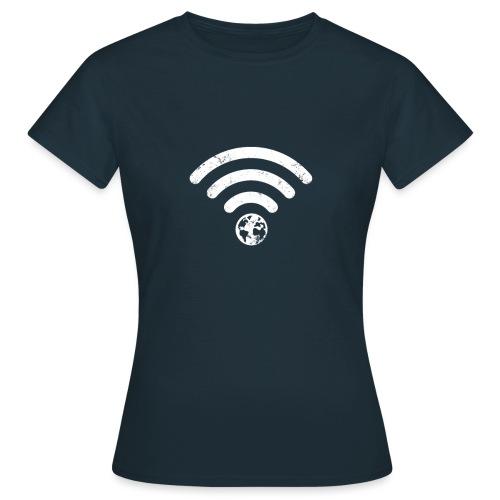 Planet Earth Calling Internet Wi-Fi - Women's T-Shirt