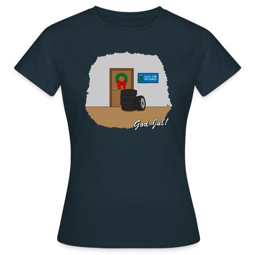 Hjulen för dörren - Vit - T-shirt dam